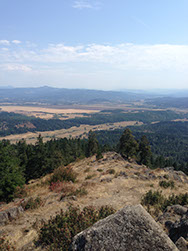 Ciew from top of Spencer Butte in Eugene, Oregon in August 2014