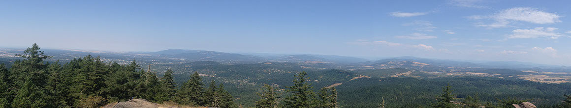 View from the top of Spencer Butte in Eugene, OR in August 2014